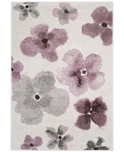 Safavieh Adirondack Ivory and Purple 4' x 6' Sisal Weave Area Rug