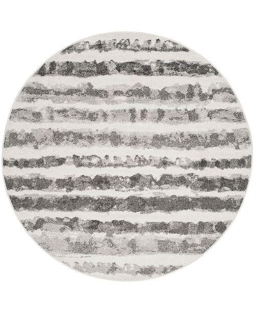 Safavieh Adirondack Ivory and Charcoal 6' x 6' Round Area Rug