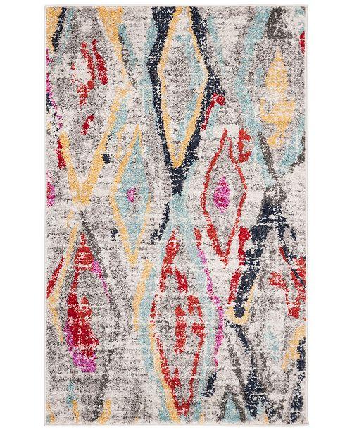 Safavieh Adirondack Light Gray and Red 3' x 5' Area Rug