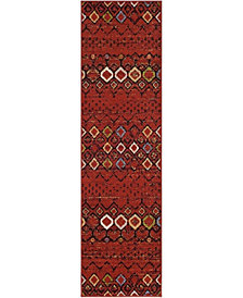 "Safavieh Amsterdam Terracotta and Multi 2'3"" x 8' Area Rug"