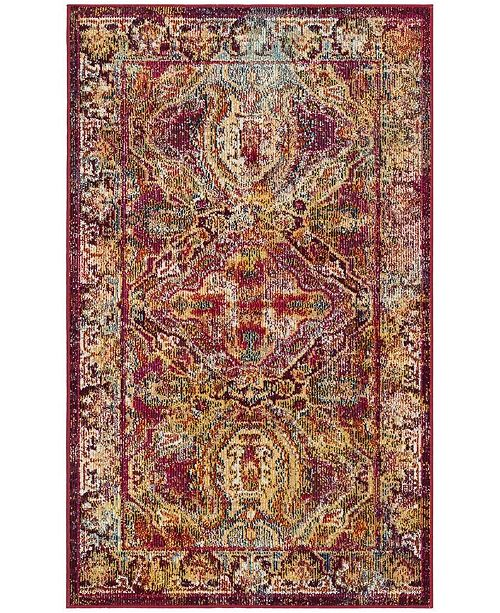 Safavieh Crystal Fuchsia and Light Blue 3' x 5' Area Rug
