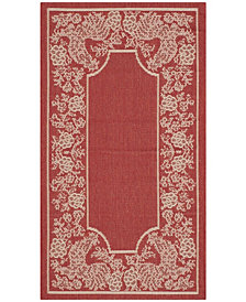 """Safavieh Courtyard Red and Natural 2' x 3'7"""" Sisal Weave Area Rug"""
