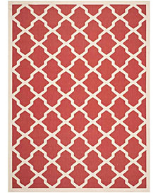 Safavieh Courtyard Red and Bone 8' x 11' Sisal Weave Area Rug