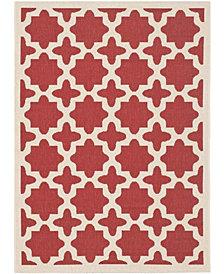 "Safavieh Courtyard Red and Bone 4' x 5'7"" Sisal Weave Area Rug"