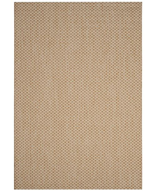 "Safavieh Courtyard Natural and Cream 5'3"" x 7'7"" Sisal Weave Area Rug"