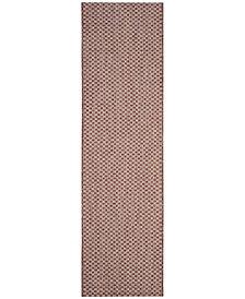 "Safavieh Courtyard Rust and Light Gray 2'3"" x 8' Sisal Weave Area Rug"