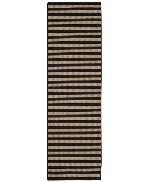 "Safavieh Four Seasons Ivory and Brown 2'3"" x 8' Sisal Weave Runner Area Rug"