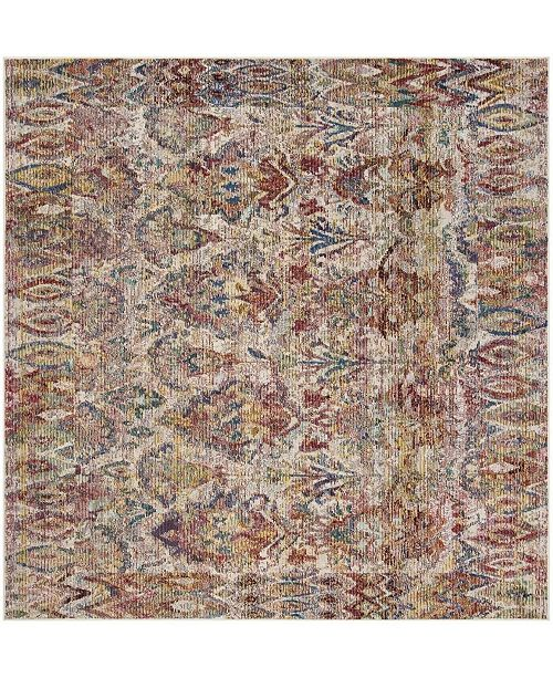 Safavieh Harmony Light Gray and Rose 7' x 7' Square Area Rug