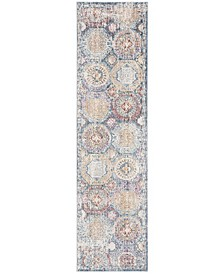 """Illusion Blue and Beige 2'3"""" x 8' Runner Area Rug"""