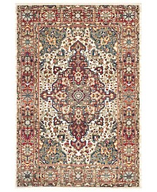 "Safavieh Kashan Ivory and Blue 5'1"" x 7'5"" Area Rug"
