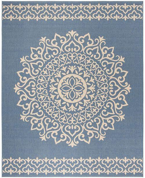 Safavieh Linden Cream and Blue 8' x 10' Area Rug