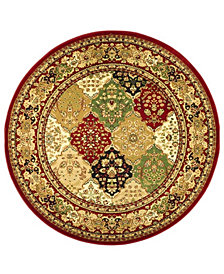 "Safavieh Lyndhurst Multi and Red 5'3"" x 5'3"" Round Area Rug"