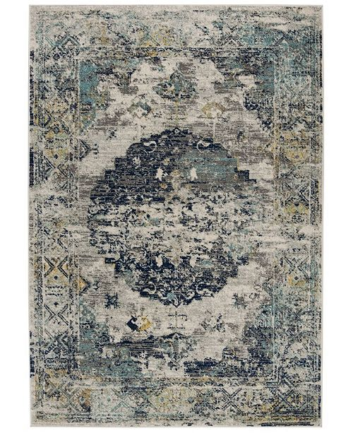 "Safavieh Madison Light Gray and Blue 5'3"" x 7'6"" Sisal Weave Area Rug"