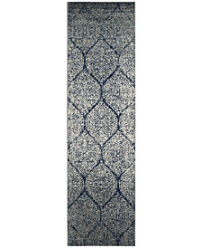 """Safavieh Madison Navy and Silver 2'3"""" x 8' Area Rug"""