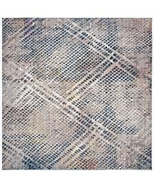 Safavieh Monray Blue and Multi 7' x 7' Square Area Rug