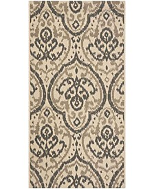 """Beige and Anthracite 2'7"""" x 5' Area Rug, Created for Macy's"""