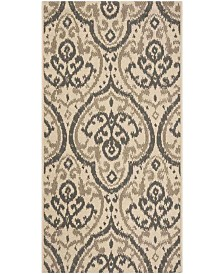 "Martha Stewart Collection Beige and Anthracite 2'7"" x 5' Area Rug, Created for Macy's"