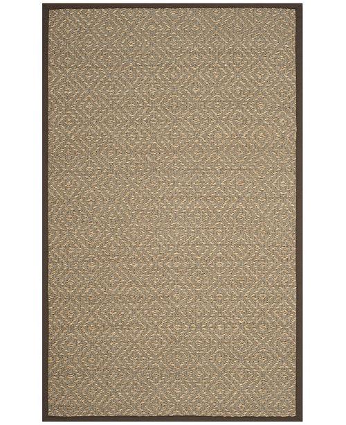 Safavieh Natural Fiber Natural and Brown 5' x 8' Sisal Weave Area Rug