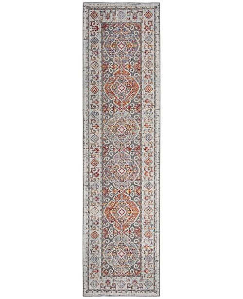 Safavieh Provance Light Grey and Black 2' x 8' Runner Area Rug