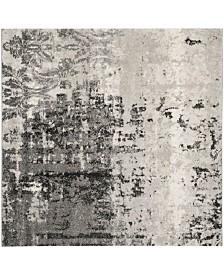 Safavieh Retro Light Gray and Gray 6' x 6' Square Area Rug