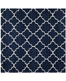 Safavieh Hudson Navy and Ivory 7' x 7' Square Area Rug