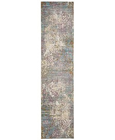 Aria Cream and Multi 2' x 8' Sisal Weave Runner Area Rug