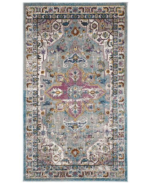Safavieh Aria Green and Creme 3' x 5' Area Rug