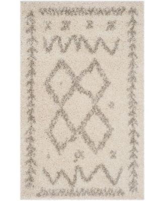 Arizona Shag Ivory and Gray 8' x 10' Area Rug