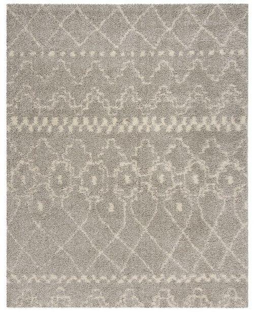 Safavieh Arizona Shag Gray and Ivory 8' x 10' Sisal Weave Area Rug