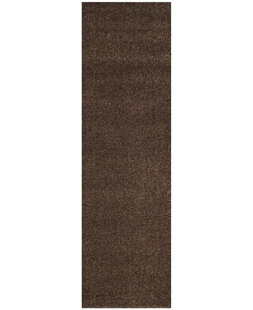 "Safavieh Arizona Shag Brown 2'3"" x 8' Runner Area Rug"