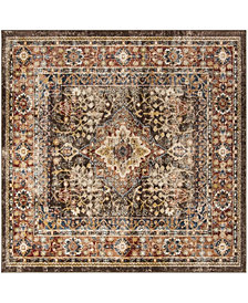 "Safavieh Bijar Brown and Rust 6'7"" x 6'7"" Square Area Rug"