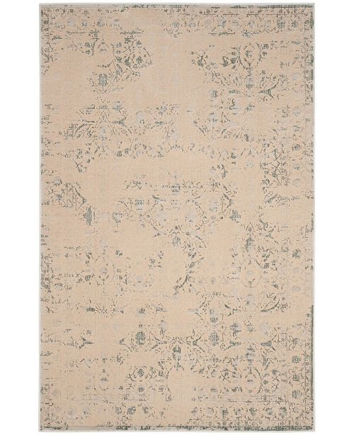 "Safavieh Brilliance Cream and Light Blue 5'1"" x 7'6"" Area Rug"