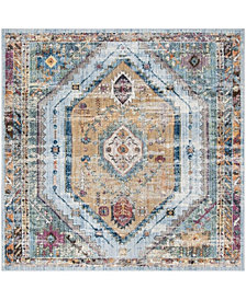 Safavieh Bristol Blue and Camel 7' x 7' Square Area Rug