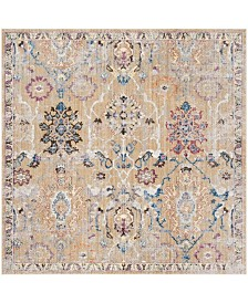 Safavieh Bristol Camel and Blue 7' x 7' Square Area Rug