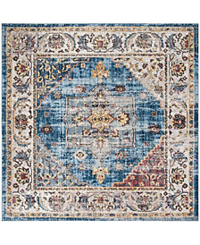 Safavieh Bristol Blue and Ivory 7' x 7' Square Area Rug