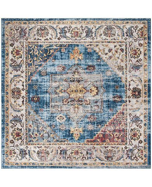 Safavieh Bristol Blue and Ivory 7' x 7' Square Area Rug