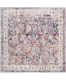 Safavieh Bristol Lavender and Light Gray 7' x 7' Square Area Rug