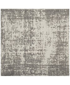 Safavieh Classic Vintage Silver and Ivory 6' x 6' Square Area Rug