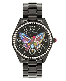 Multi-Colored Butterfly Motif Dial Black Watch