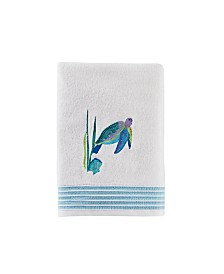 Watercolor Ocean Bath Towel