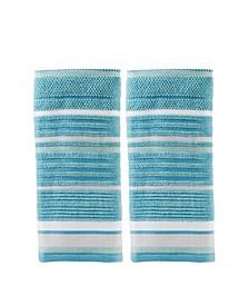 Seabrook Stripe 2 Piece Hand Towel Set