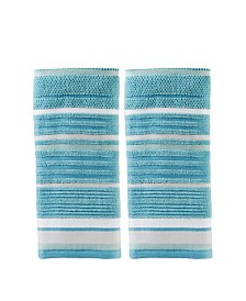 Seabrook Stripe 2 Piece Hand Towel Set