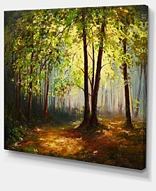 "Designart Summer Forest Landscape Art Print Canvas - 40"" X 30"""