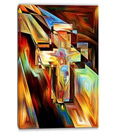 "Designart Light Of The Cross Abstract Canvas Artwork - 30"" X 40"""