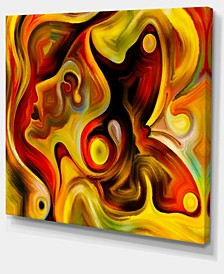"Designart Butterfly'S Emotions Abstract Canvas Art Print - 40"" X 30"""
