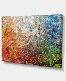 """Designart Board Stained Abstract Art Abstract Canvas Art Print - 32"""" X 16"""""""