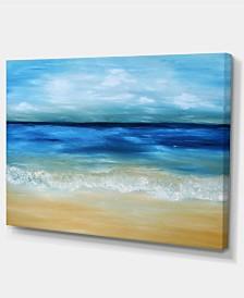 """Designart Warm Tropical Sea And Beach Seascape Canvas Art Print - 32"""" X 16"""""""