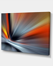 """Designart Rays Of Speed Large Lines Abstract Canvas Art Print - 32"""" X 16"""""""