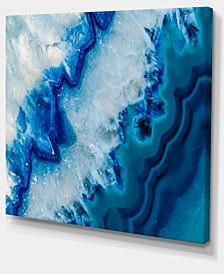 "Designart Geode Slice Macro Abstract Canvas Art Print - 20"" X 12"""