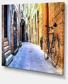 """Designart Pictorial Street Of Old Italy Cityscape Canvas Art Print - 20"""" X 12"""""""